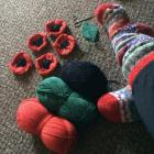 Knitted Poppies for Remembrance Day, 2020