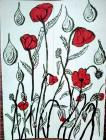 Poppies in Windows by Wendy 2020