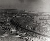 Aerial view of Barry docks