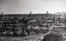 Construction of the West Dam, Barry Docks