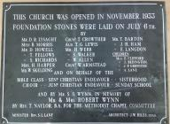 Methodist Church Plaque, Cromwell Road, Newport
