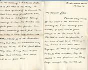 Mending of vests letter from Harry White, 14th...
