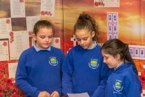 Swansea Schoolchildren Creating Poppies and...