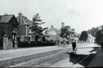 New Market Street, Usk, early 1900