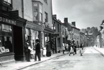 Celebrations on Bridge Street, Usk, May 1900