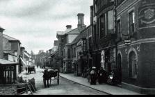 Horse and Cart, Bridge Street, Usk, early 1900