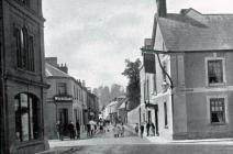 Bridge Street, Usk, early 1900