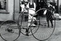 Tricycle in Usk, c1902