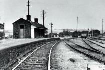 Little Mill Junction station, Usk, c1900
