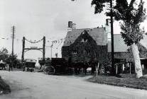 White Hart Inn, Llangybi, early 1900
