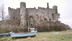 Laugharne Castle and Church Carmarthenshire