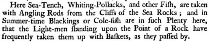 Fishing at Skerry Lighthouse. Extract from...