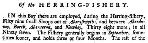 The Herring Fishery (Employment) in Aberystwyth...