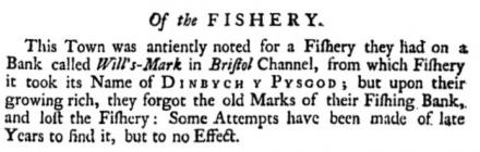 The Lost Fisheries of Tenby. Extract from...