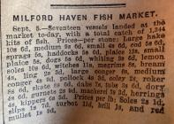 Milford Haven Fish Market, 1931