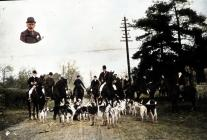 Llangybi Hunt, early 1900 - colourised