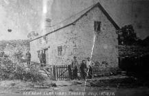 Castle Cottage, Llangybi 18th July 1878 – scene...