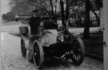 Llangibby House, car and driver, 1902