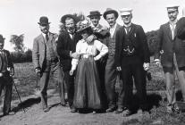 Llangibby House party group, 1902