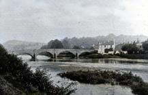 Usk Bridge Early 1900 - colourised
