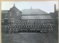 Soldiers outside Lysaght  Institute