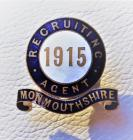 WW1 recruiting agent badge