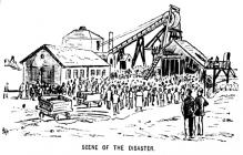 Explosion at Morfa Colliery 1890