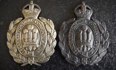 Carnarvonshire Constabulary helmet plates
