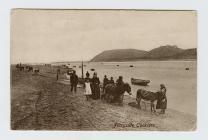Cerdyn post o gasglwyr cocos, Glan-y-Fferi, 1904