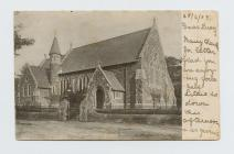 Postcard of Ferryside Church...