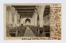 Postcard of interior of St. Peter's Church...