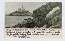 Postcard of Mumbles Lighthouse, 1902