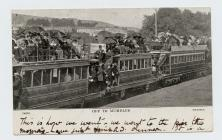 "Postcard of Mumbles train ""Off to Mumbles..."