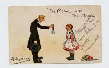 "Postcard of ""The Medal and the Maid"" ..."