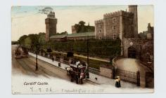 Postcard of Cardiff Castle, 1904