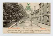 Cerdyn post o Goleg y Frenhines a Phont,...