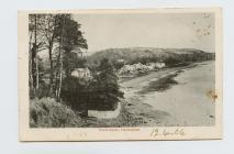 Postcard of North Sands, Llanstephan, 1904
