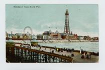 Postcard of Blackpool from North Pier, 1904