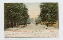 Cerdyn post o Leigham Court Road, Streatham...