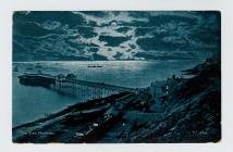 Postcard of The Pier, Mumbles, 1904