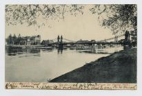 Postcard of Hammersmith Bridge (from the Towing...