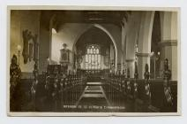 Postcard of  Interior of St. Peter's...
