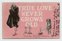 Postcard of Valentine card.  1907