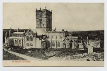 Postcard of St David's Cathedral, 1907