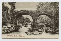 Postcard of Old Weir Bridge, Killarney, 1907