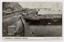 Postcard of Goodwick Harbour Works, (no date...