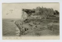 Postcard of Puys beach, Dieppe, 1908
