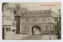 Cerdyn post o Borth Abaty Malvern, 1908