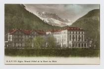 Postcard of Aigle. Grand Hotel et la Dent du...
