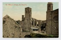 Postcard of St Mary's College, St. David&...